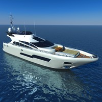 3d model sport yacht sunseeker 101