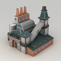 Lowpoly brewery