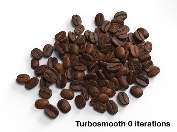 coffee beans 3d max
