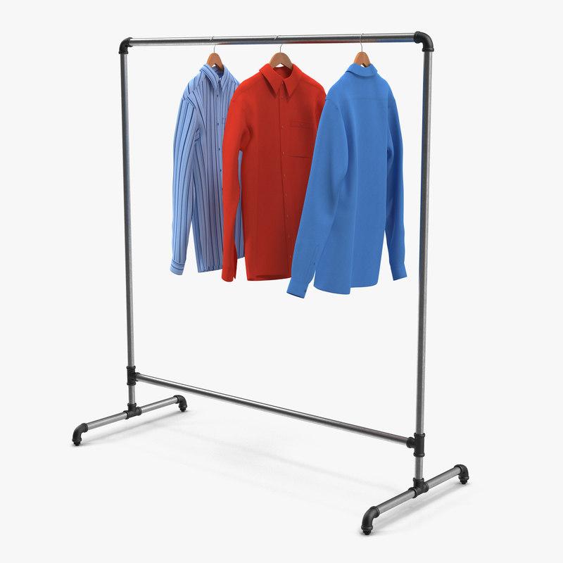 3d iron clothing rack 5 model