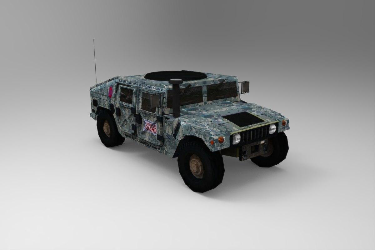 hummer hmmwv 3d model