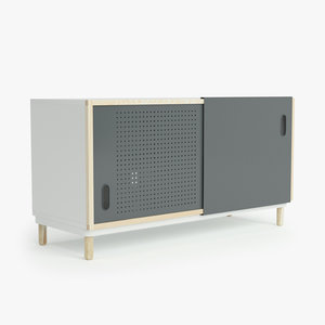 normann copenhagen kabino sideboard 3d model