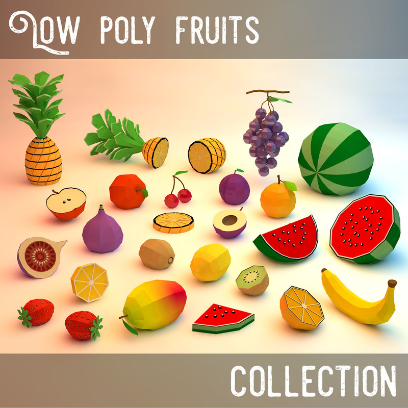 3d fruits assets