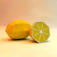 low poly lemon (game ready)