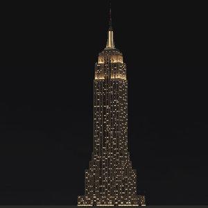 3d empire state building landmark