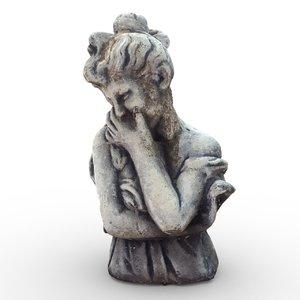 3d statue woman