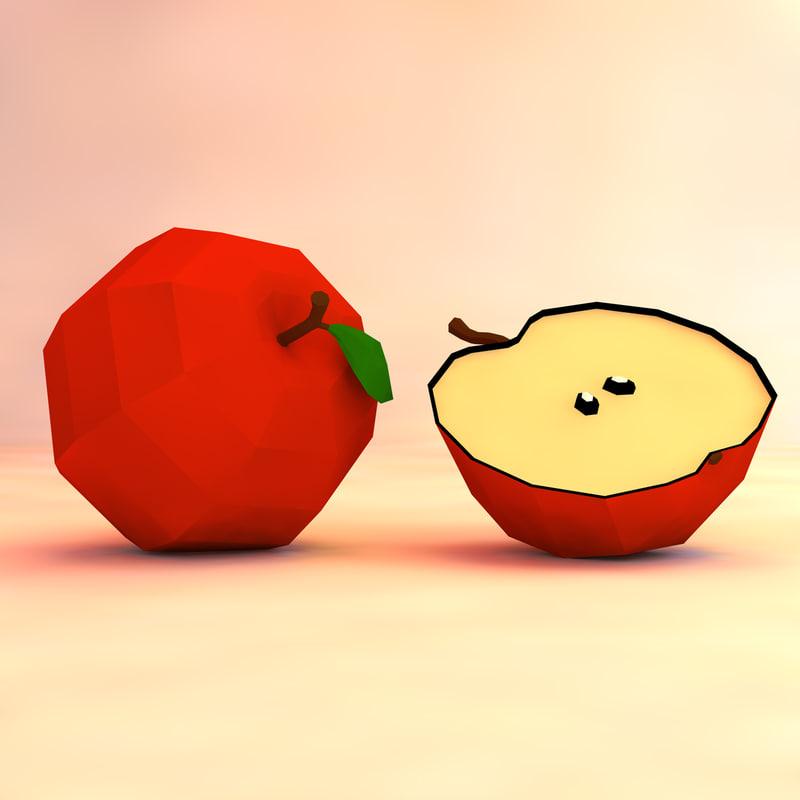 apple asset 3d obj