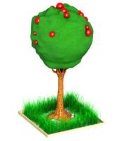 tree cartoon art obj free