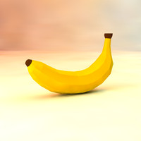 low poly banana (game ready)