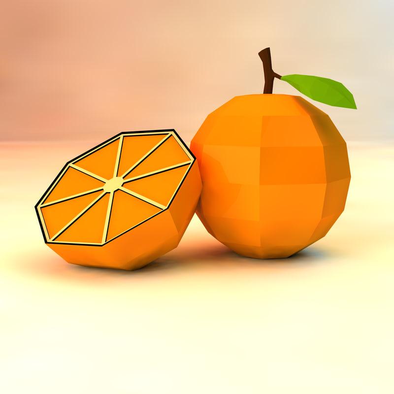 obj orange asset