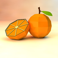low poly orange (game ready)