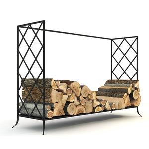 fireplace log holder 3d max