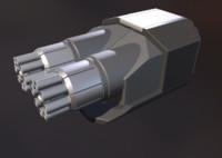 3d gatling gun module