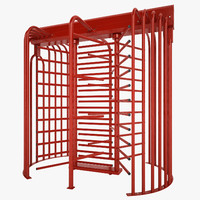 galvanized steel turnstile 3d obj