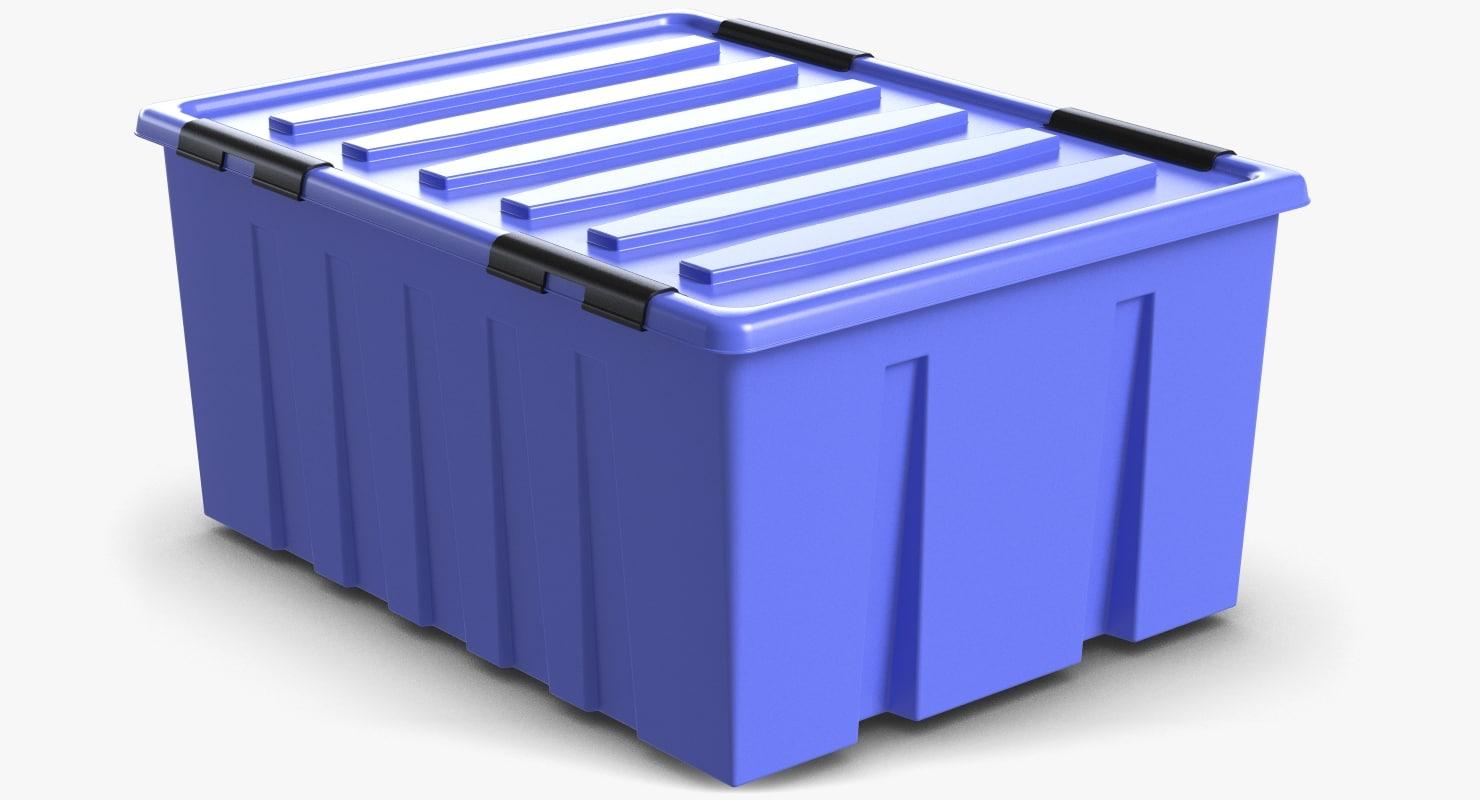 3d plastic locker box model