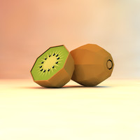 low poly kiwi (game ready)