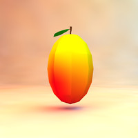 low poly mango (game ready)