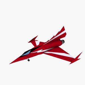 anime fighter riga 3d model