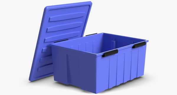 plastic locker box 3d model