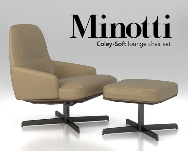chair minotti coley-soft lounge 3d max