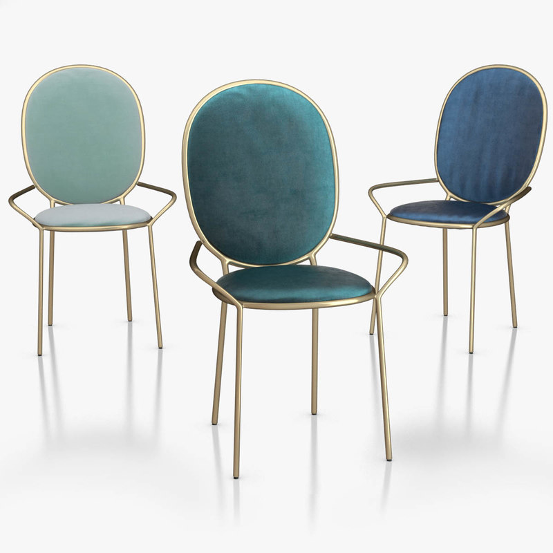 3d model stay dining armchair