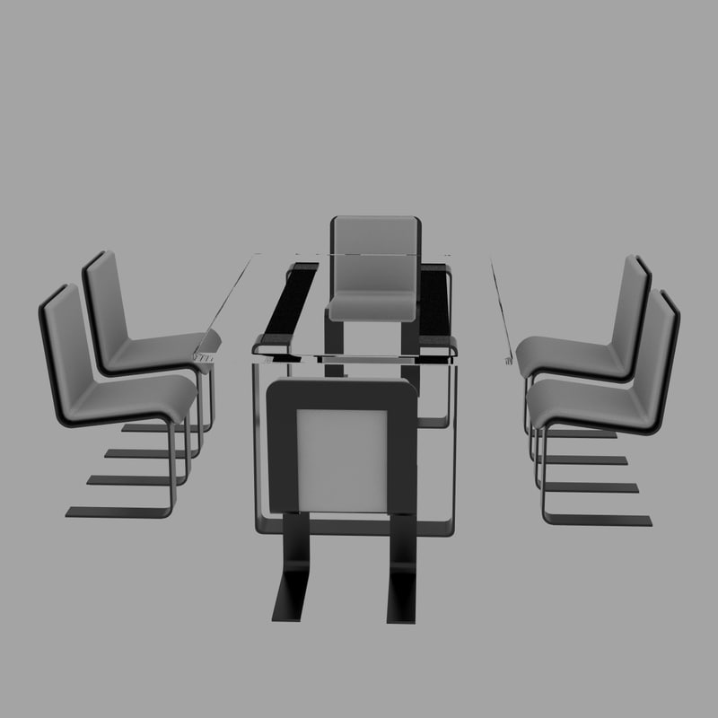 table chairs obj