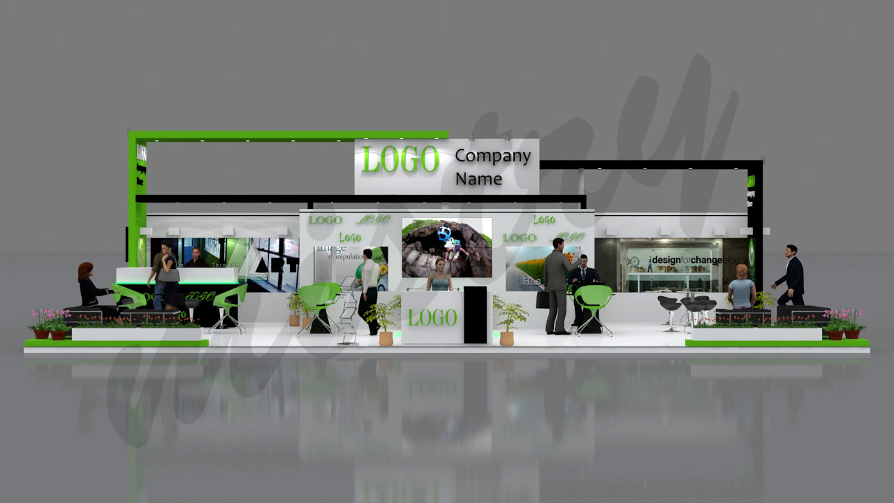 exhibition stand x 3 max
