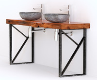 washbasin solid wood