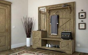 free cabinet hallway 3d model