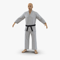 3d japanese karate fighter
