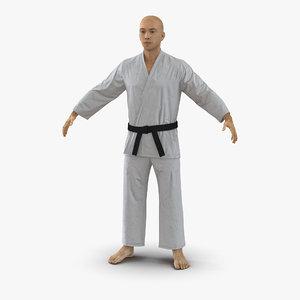 3d japanese karate fighter