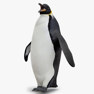 3d emperor penguin rigged