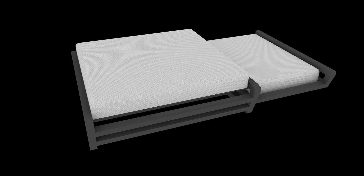 bed loft style 3d model