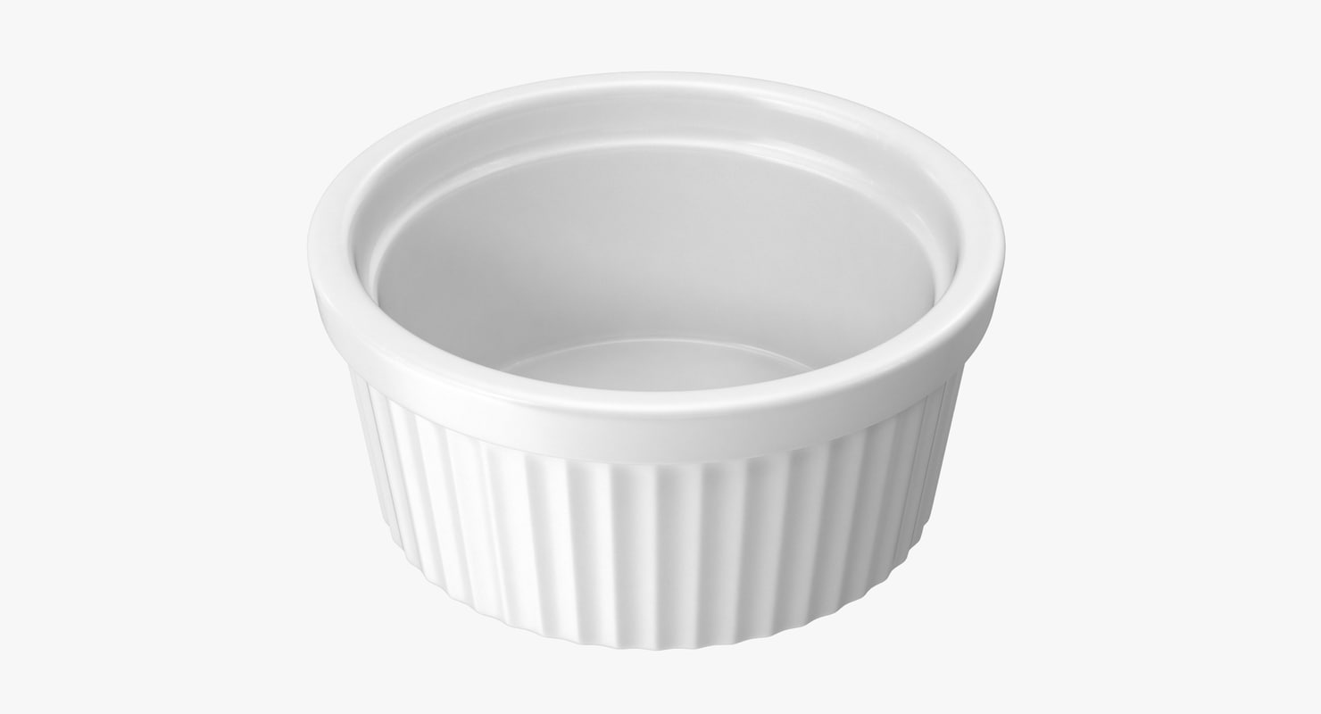 3d big ceramic ramekin model
