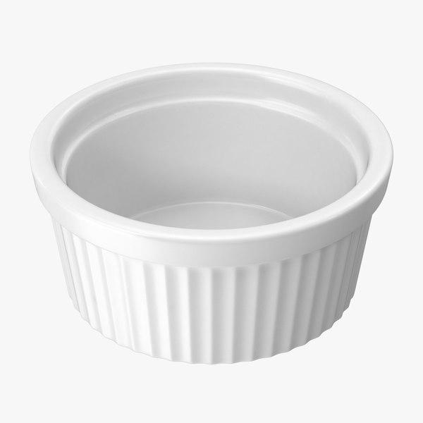 3d big ceramic ramekin model
