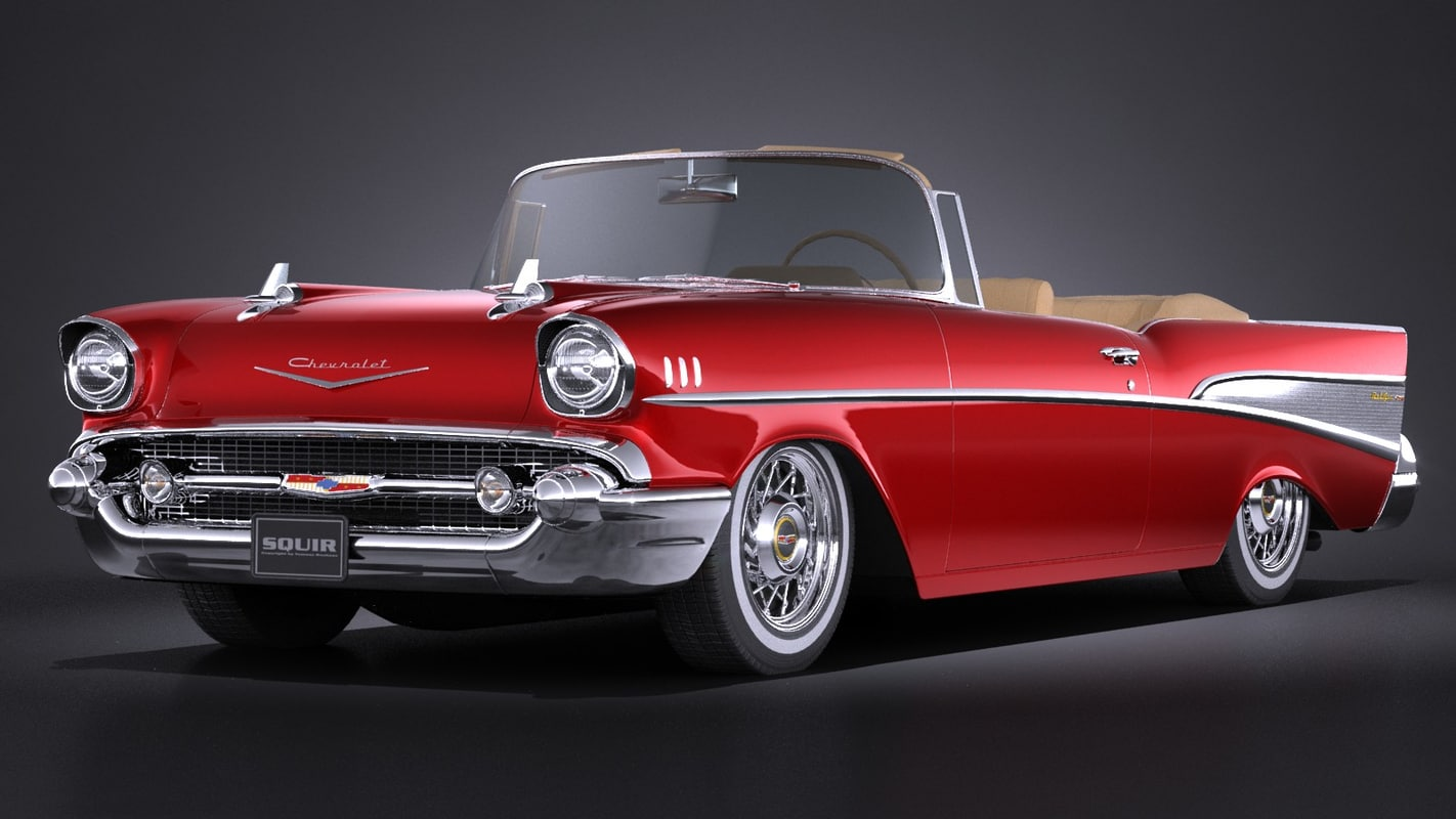 1957 Chevy Bellaire Convertible Chevrolet Bel Air 3d Model