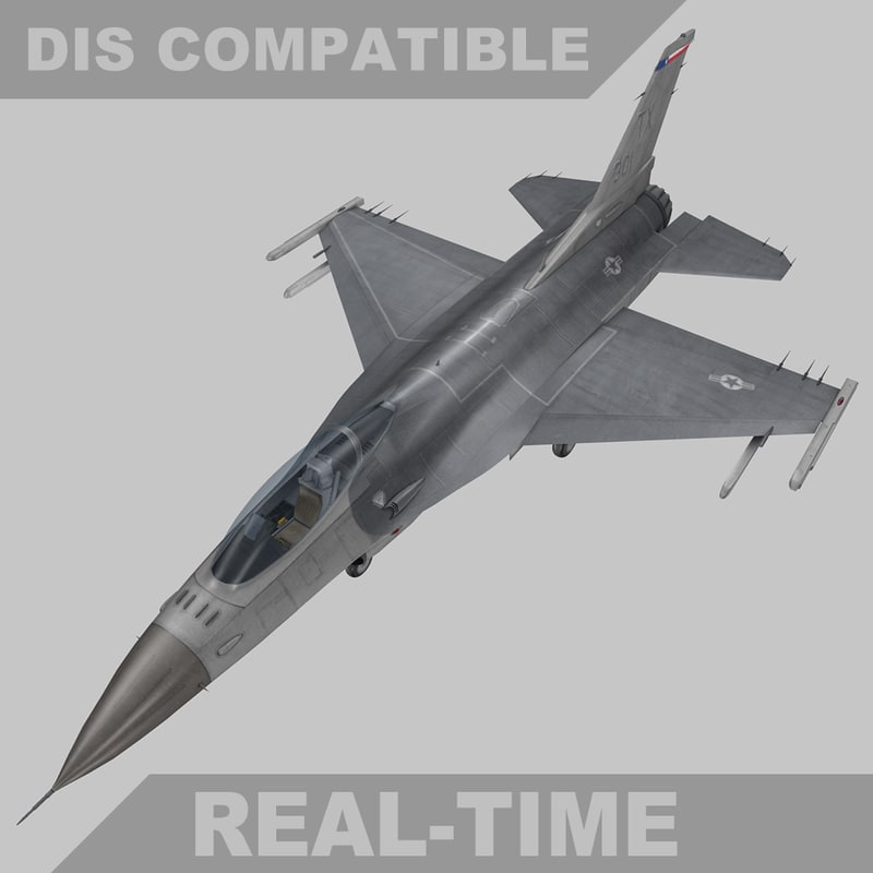 fbx time f-16c fighter