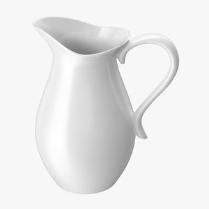 3d model porcelain carafe