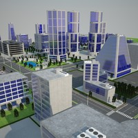 office city 3d model