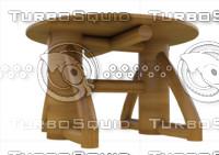 mesa madera obj
