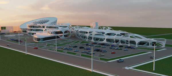 shopping center 3d max