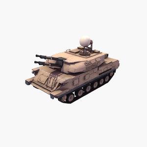 zsu-23-4 shilka 3d model
