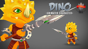 3d model character dino