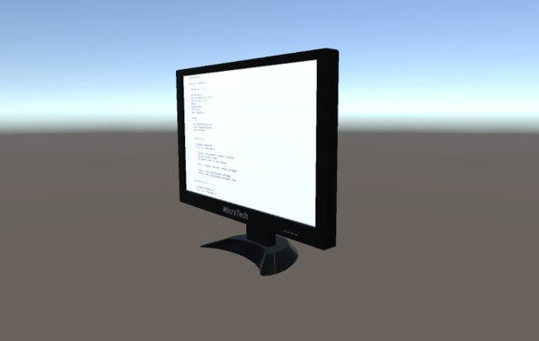 monitor 22 inch 3d model