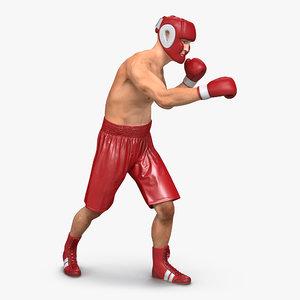 boxer man pose 3 3d model