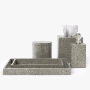 3d model restoration hardware shagreen bath