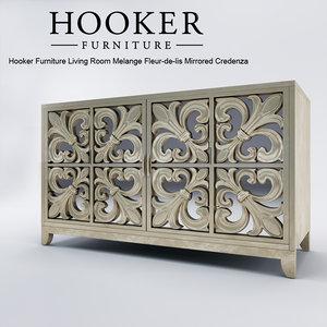 hooker chest 3d max