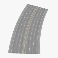 6 lane highway 22 3d model