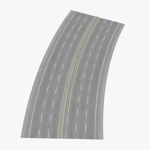 6 lane highway 22 3d model