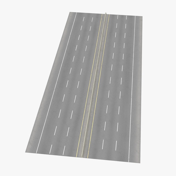 3d 6 lane highway straight